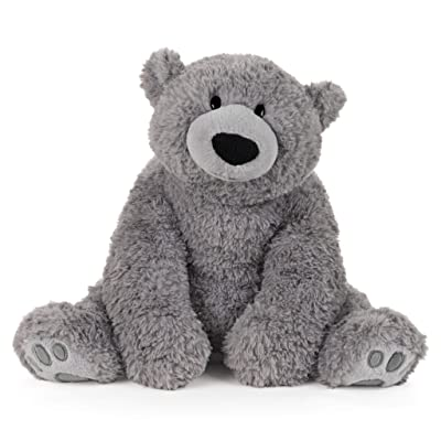"GUND Mylo Seated Gray Bear, 18"": Toys & Games"