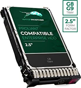 600 GB 10K RPM 512n SAS 6Gb/s 2.5-Inch HDD for HP Proliant Servers | Enterprise Hard Drive in G8 G9 Tray Compatible with 653957-001 652583-B21
