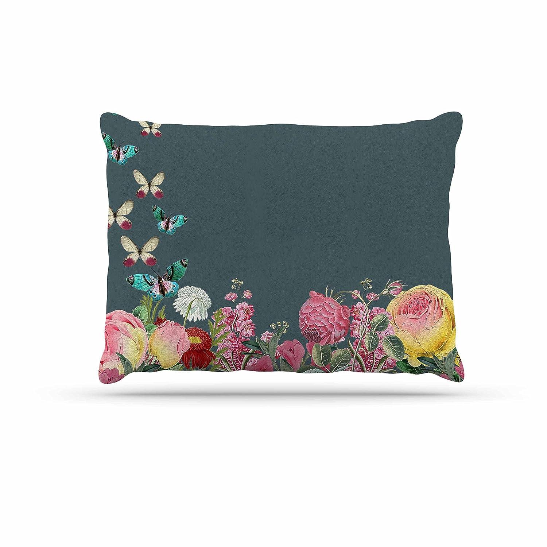 KESS InHouse Suzanne Carter Summer Garden 2  Pink Teal Dog Bed, 30  x 40