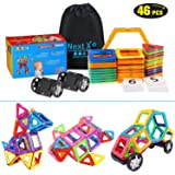 GP - NextX Magnetic Blocks Building Set for kids - Magnetic Tiles Early Learning Educational Building Construction SETM Toys for Boys and Girls with Storage Bag - 46Pcs
