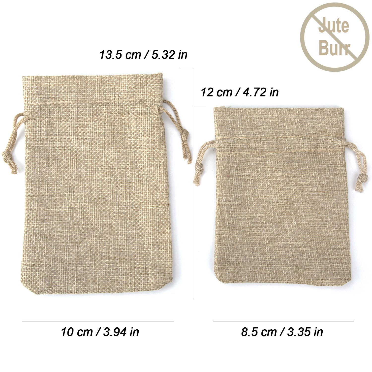 Amazon.com: ADVcer Burlap Bags with Drawstring Set, 5.5 x 4 and 4.8 ...