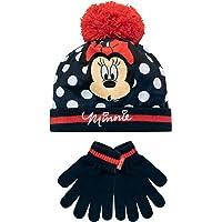 Disney Conjunto de gorro y guantes para niña Minnie Mouse Azul Un tamaño