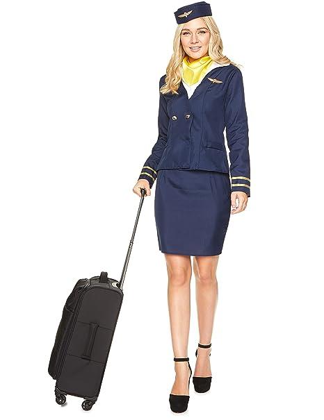 promo code 4bc2c e8104 Costume da hostess di volo blu per adulto XS
