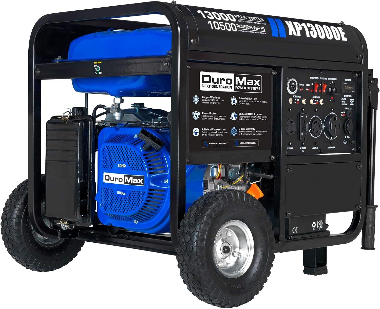 DuroMax XP13000E Generator, Blue/Gray