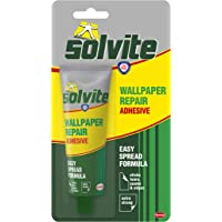 Solvite Behang Reparatie Lijm, Behangpasta voor het bevestigen van tranen, Naden en randen, Extra Sterke Lijm voor Naad…