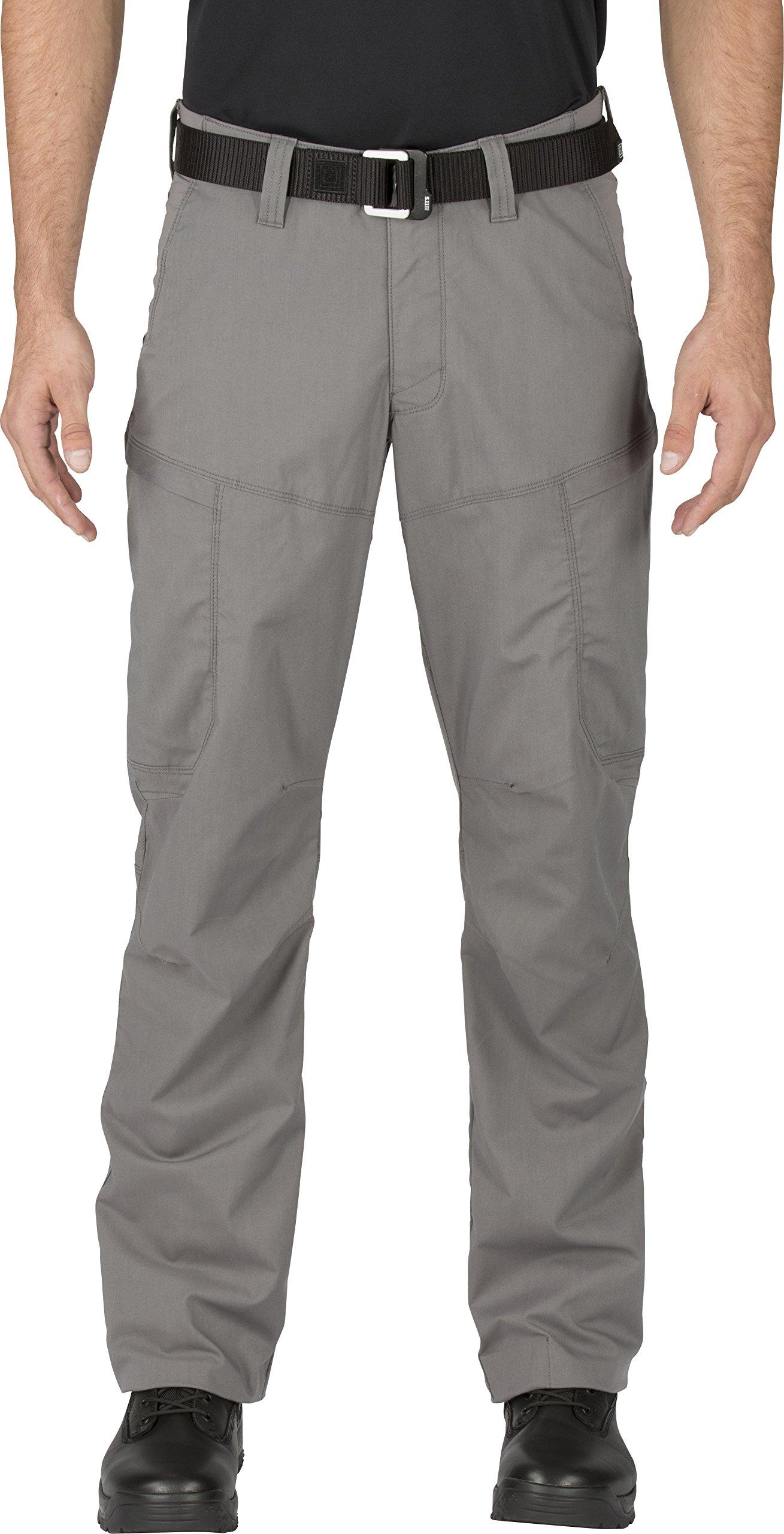 5.11 Men's APEX EDC Stealth Cargo Pocket Tactical Pant Style 74434, Storm, 28W x 34L