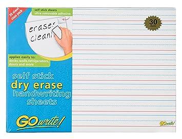 Workbook customizable handwriting worksheets : Amazon.com: GoWrite! Dry Erase Self-Adhesive Handwriting Sheets ...