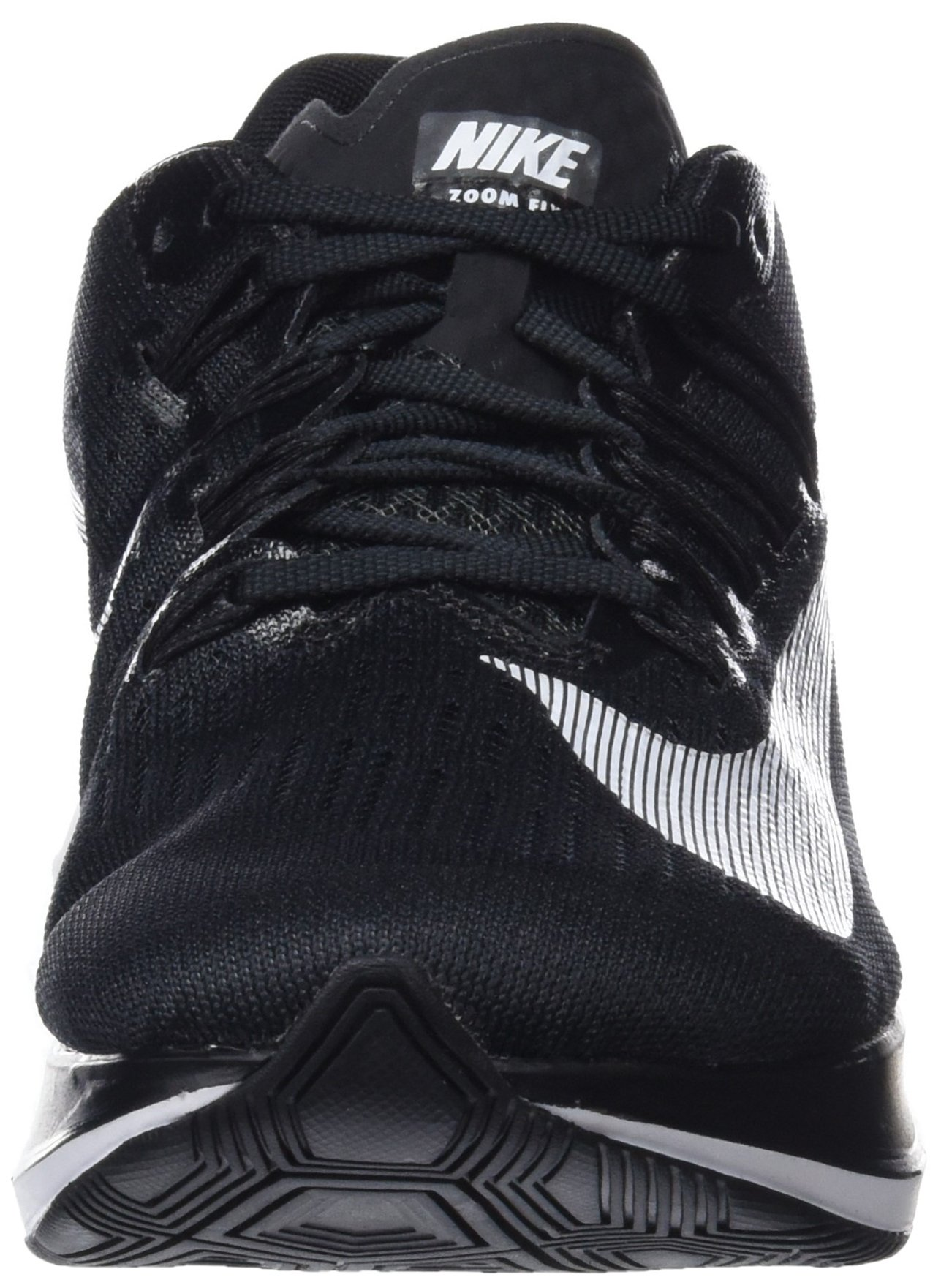 NIKE Women's WMNS Zoom Fly, Black/White, 9 M US by NIKE (Image #4)
