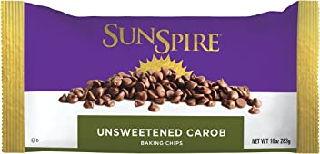 SunSpire Unsweetened Carob Baking Chips, 10 Ounce