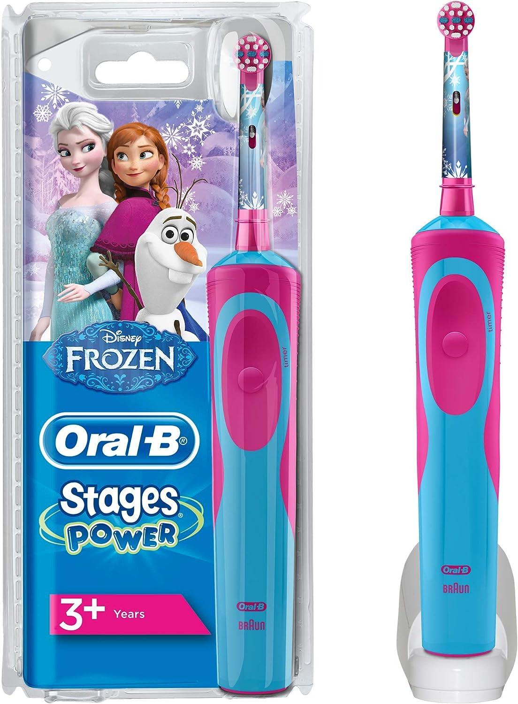 Oral-B Niños Cepillo De Dientes Eléctrico, 1 Mango De Frozen De Disney Recargable Con Tecnología De Braun, 1 Cabezal De Recambio, Apto Para Niños Mayores De 3 Años