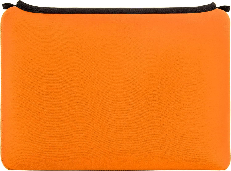 Neoprene Laptop Sleeve 15.6 15 inch Orange for Lenovo IdeaPad S540 S340 L40 S145, Legion Y470 Y545 Y540, ThinkPad T590 E595 E590 L590 P1 Gen 2 P53s P53 Workstation, V130, Yoga ChromeBook C740 C630