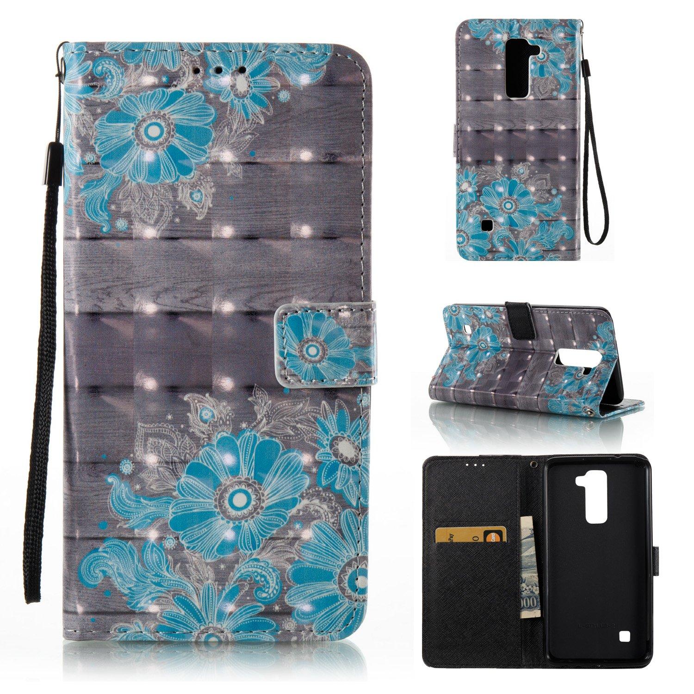 Cozy Hut LG Stylus 3 Hülle, PU Leder Flip Wallet Case mit Magnetverschluss Anti-Scratch Shell Cash Pouch ID Card Slot Standfunktion Etui für LG Stylus 3 - Milchkuh
