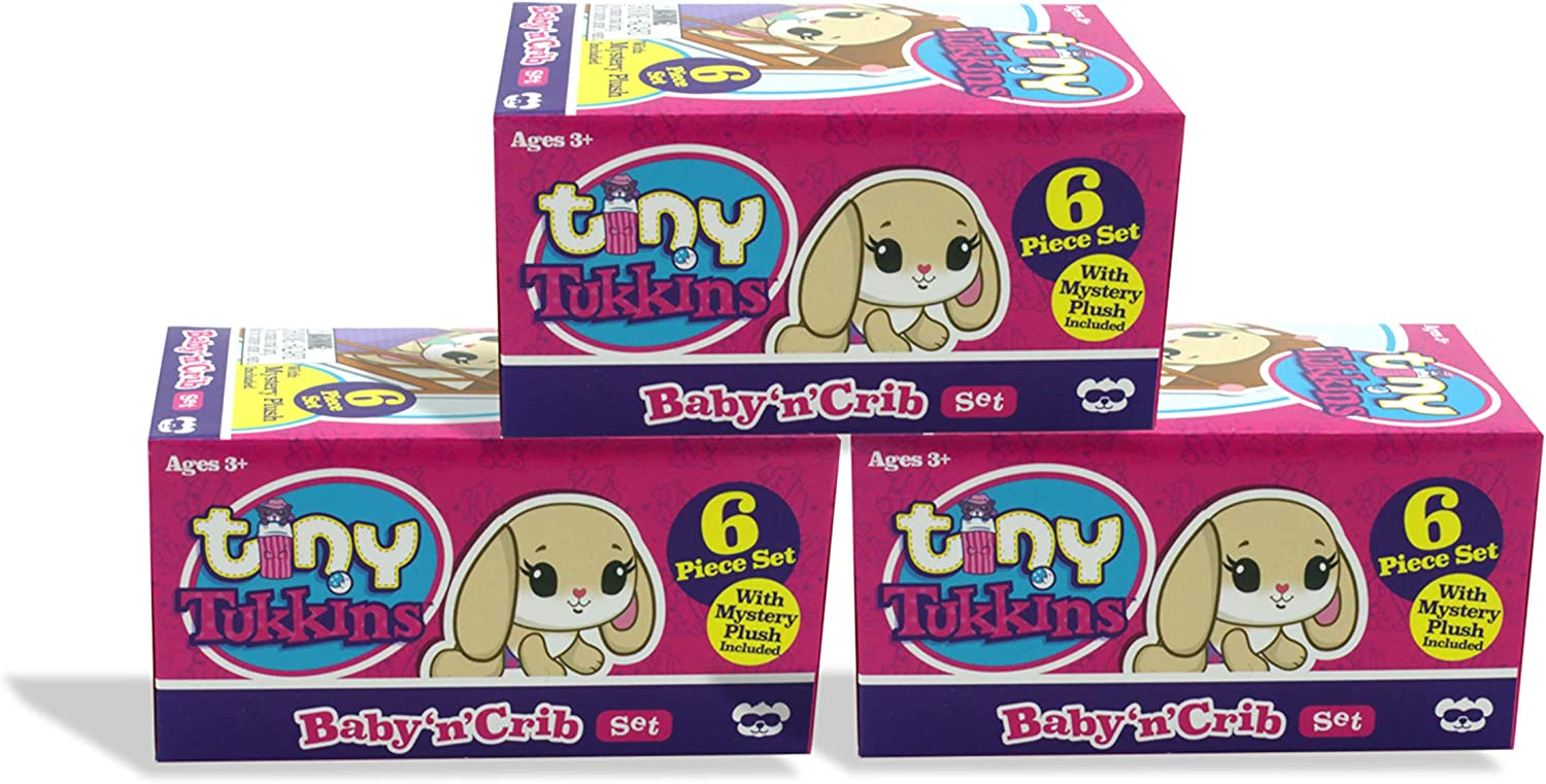 Tiny Tukkins Mystery Plush 3-Pack, Blind Pack