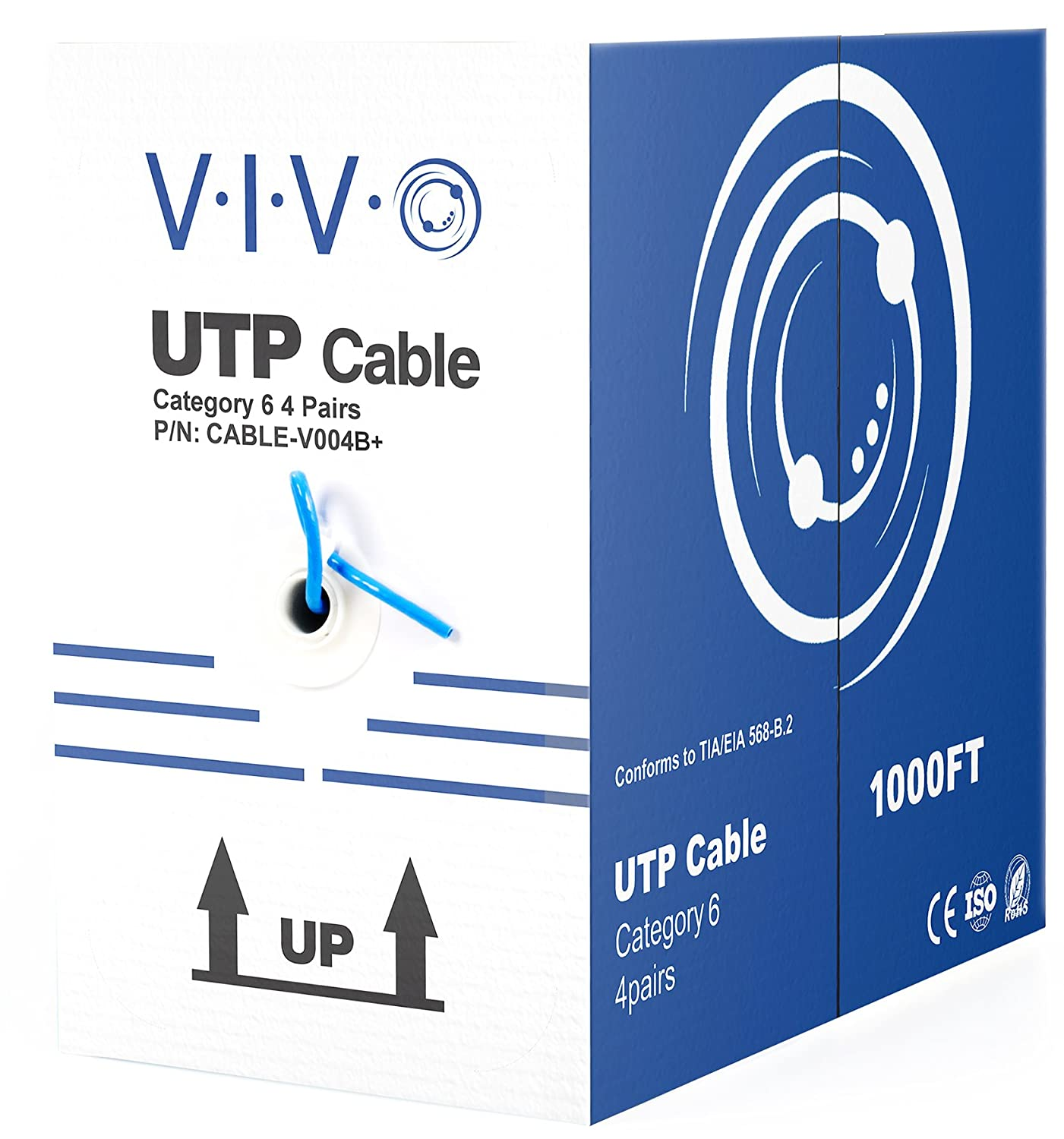 Amazon.com: VIVO Grey 1,000 ft bulk Cat6 (CCA) Ethernet Cable (CCA ...