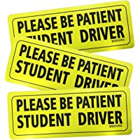 Yacoto 3Pcs Student Driver Car Magnet Safety Sign, Reflective Student Driver Magnet for Car Bumper Magnets, Vehicle…