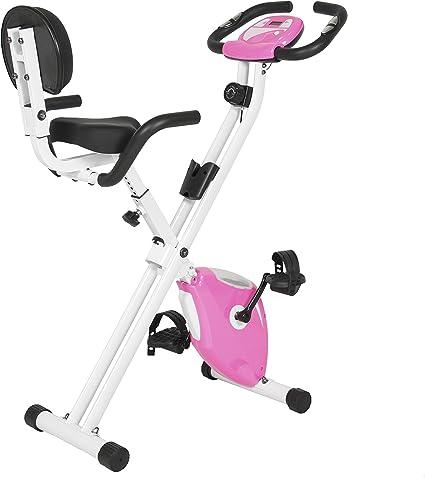 Best Choice Products Rosa Plegable Ajustable Vertical magnético Bicicleta estática Fitness Upgraded máquina: Amazon.es: Deportes y aire libre