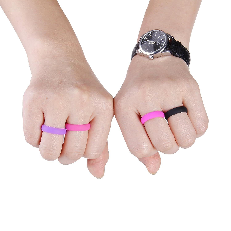 Amazon.com: Silicone Wedding Ring Band Premium Quality for Active ...