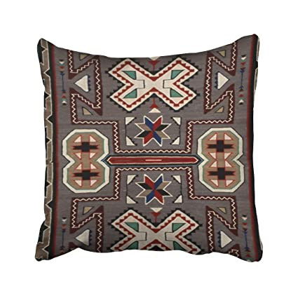 Capsceoll South Western Navajo Print Decorative Throw Pillow Case  18X18Inch,Home Decoration Pillowcase Zippered Pillow