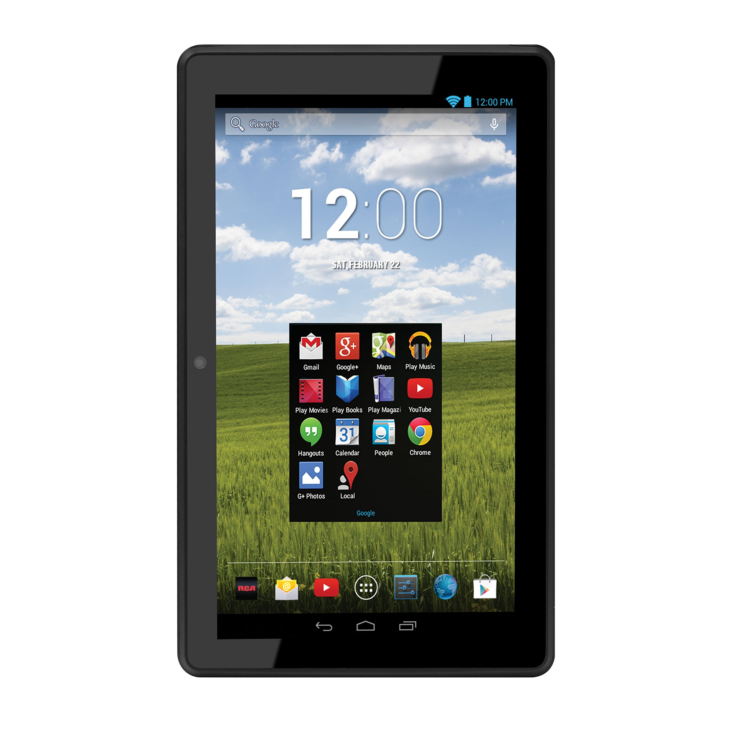 RCA Pro10 Edition 10.1 Inch Tablet with Folio Keyboard Case and Dual Camera - 16GB (Android 4.2.2 Jelly Bean, Google Play), (RCT6103W46) by RCA