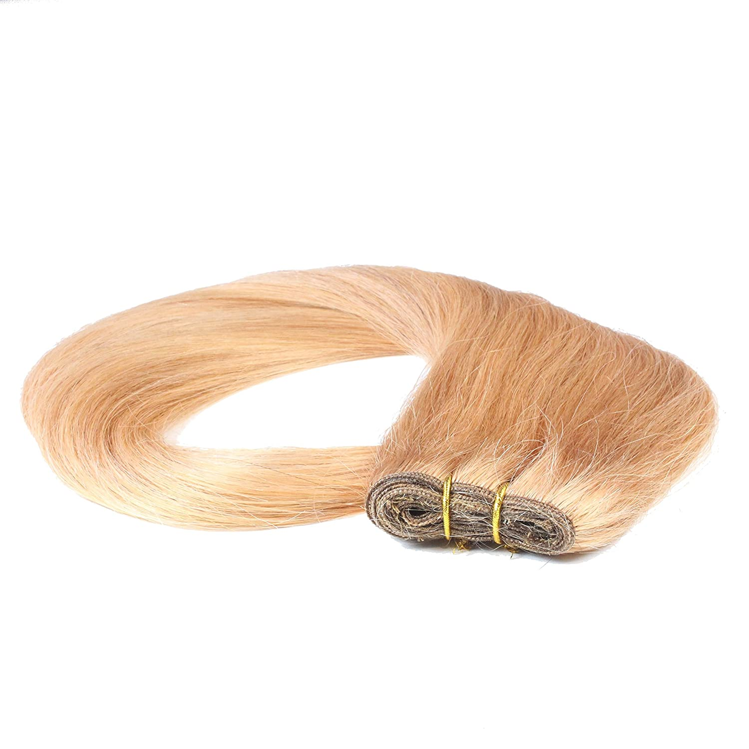 Hair2Heart Extensiones de Cortina Cosida Pelo Natural - 70cm - Liso, Color 12 Miel Rubia: Amazon.es: Belleza