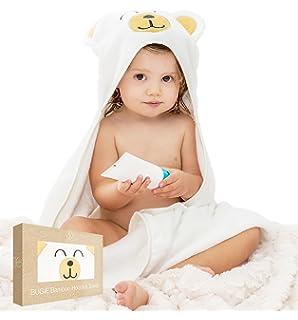 Toalla Bebé con Capucha BUGIE, Capa de baño para Niños 100% Bambú, Albornoz