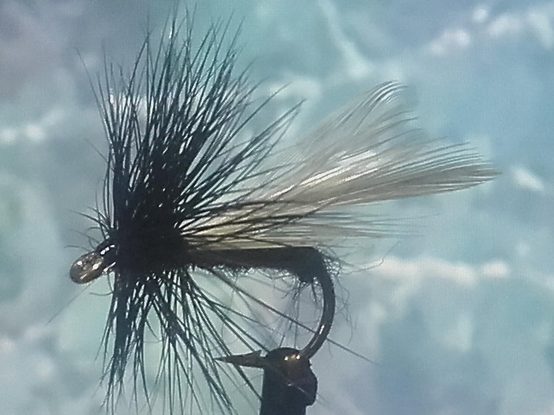 Trockenfliegen 'Black Midge' 3er Set, Hakengrö ß e 12