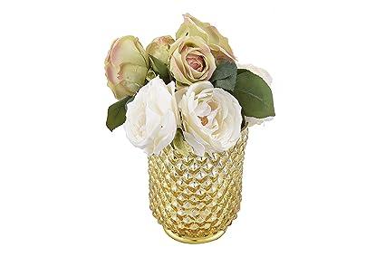 Buy Sammsara Mysore Gold Glass Flower Vase Small Pots For Artificial