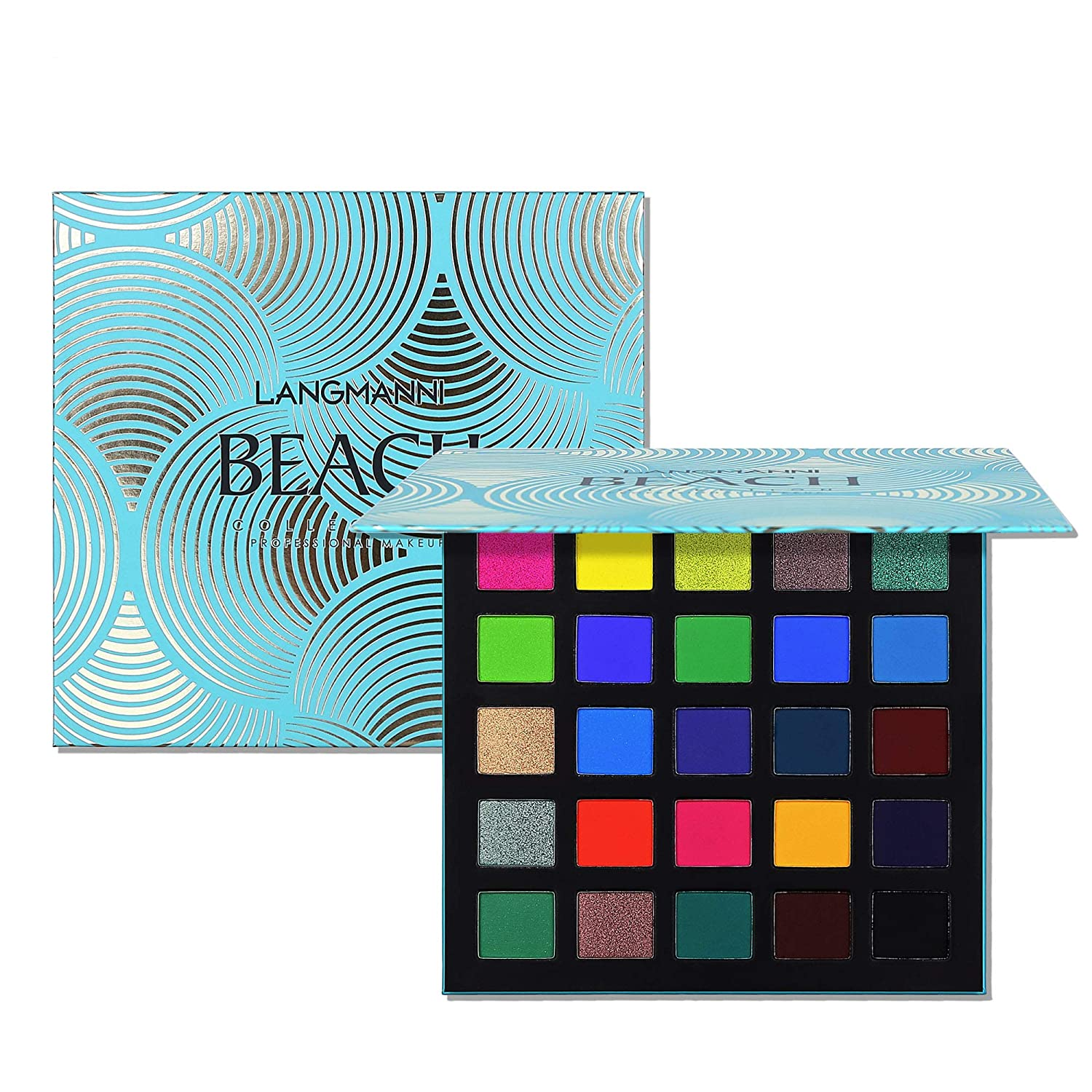 Eyeshadow Palette Naked Eyeshadow Sweatproof Makeup Set, Matte Glitter Pressed All Highly Pigmented Blending Powder, Natural Velvet Texture Eye Shadow Kit Perfect For Woman & Girl(Blue)