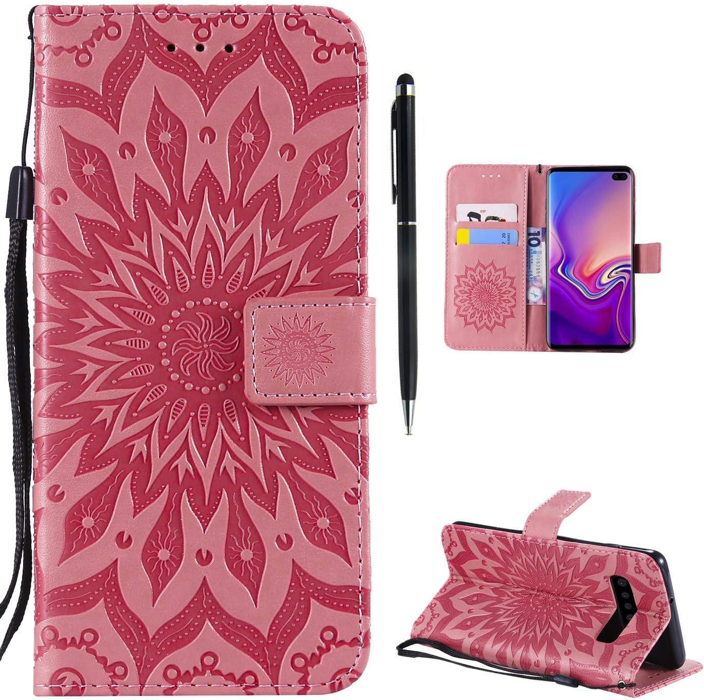 Hancda H/ülle f/ür Samsung Galaxy S10 Handyh/ülle Flip Case Glitzer Bling H/ülle Leder Tasche Schutzh/ülle Handytasche mit ein Kartenfach Klapph/ülle f/ür Samsung Galaxy S10,Lila
