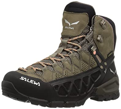 Salewa Womens Alp Flow Mid GTXW Mountaineering Boot WalnutPeach Coral