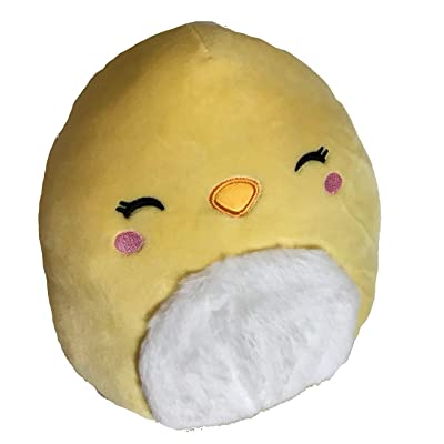 SQUISHMALLOWS Chuck Yellow Chick with Fur 8 Inch Easter: Toys & Games
