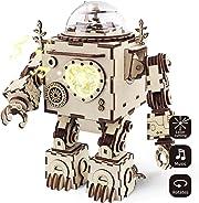 Prendi questi tasselli in legno e montali fino a costruire uno stupendo robot, stile anni