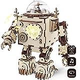 Robotime de corte de láser de madera de rompecabezas-DIY mecanismo de música de caja de madera modelo de construcción de cumpleaños y regalos de Navidad para niños y adultos (Orpheus)