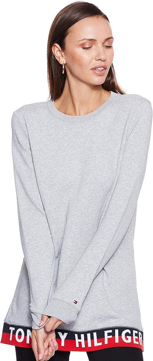 Tommy Hilfiger Khloe C-nk Sweatshirt LS Camisa Manga Larga, Gris (Light Grey Htr 039), X-Small para Mujer: Amazon.es: Ropa y accesorios
