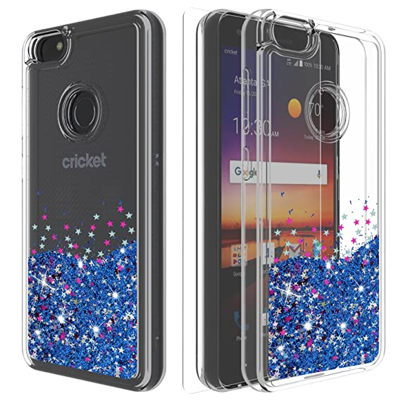 official photos 673a1 9d115 ZTE Blade X Case,ZTE Blade X Z965 Case,ZTE Z965 Case with HD Screen  Protector,Ayoo Teen Girls Women Bling Liquid Luxury Glitter Sparkle Soft  TPU+PC ...