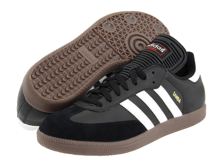 (アディダス) adidas メンズサッカーシューズインドア靴 Samba Classic Black/White 6.5 (24.5cm) D Medium B07BQ86TJ1