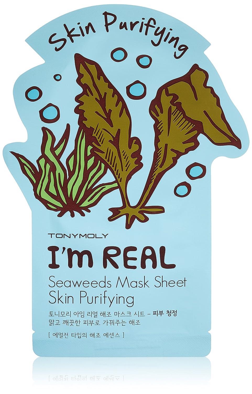 Mascarilla - Im Real Seaweeds Mask Sheet - Skin Purifying - Tony Moly: Amazon.es
