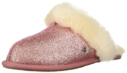 61c89f032e0 UGG Women's W Scuffette II Sparkle Slipper, Pink, 5 M US: Amazon.co ...