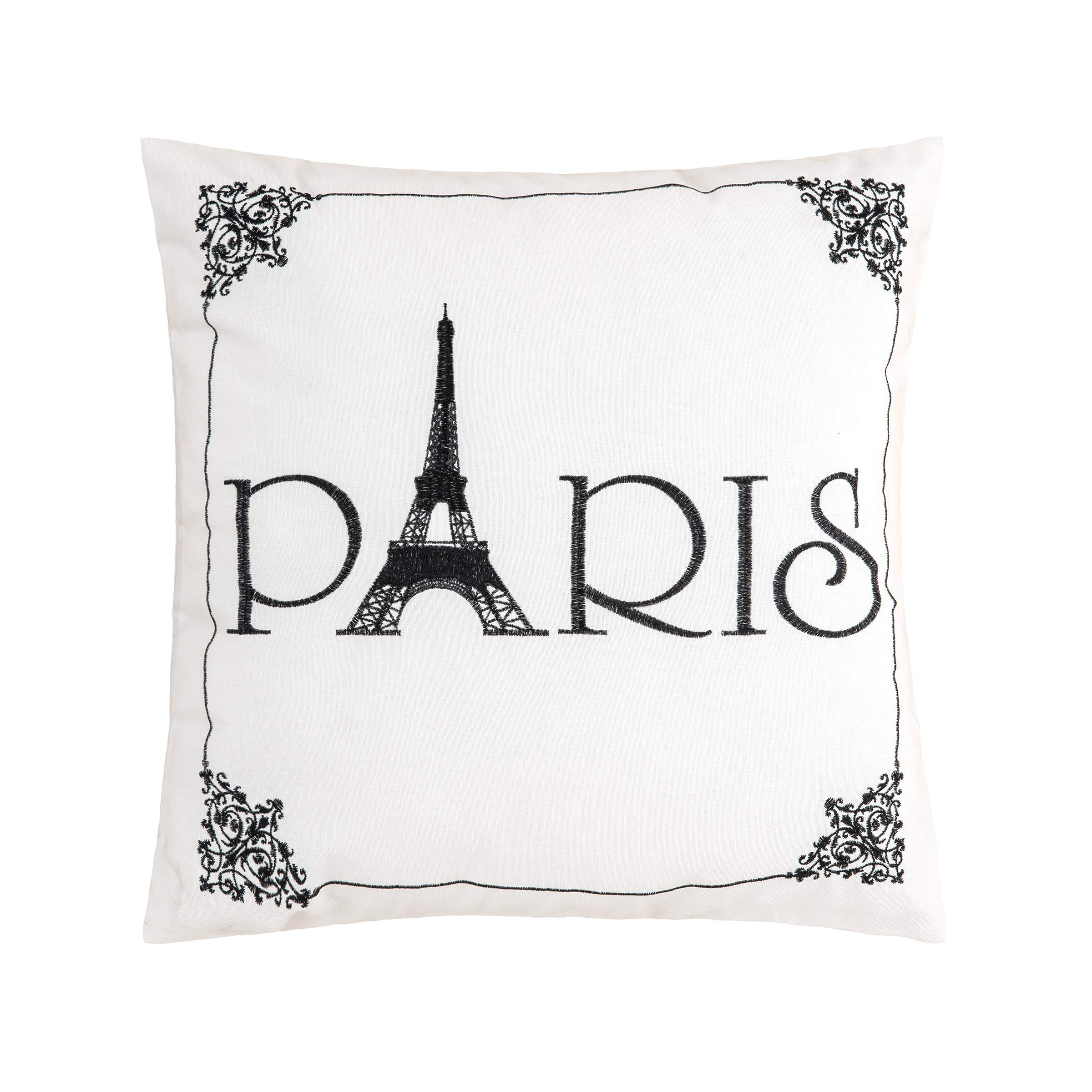 C&F Home Paris Embroidered Pillow 18 x 18