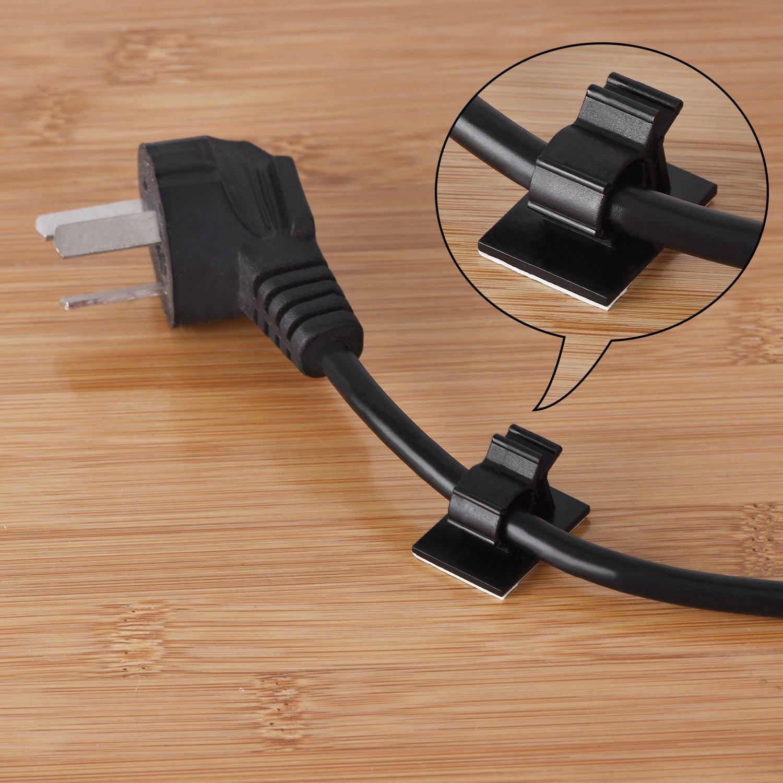 30 Stück Verstellbare Kabelklemmen Selbstklebende Kabelbinder ...