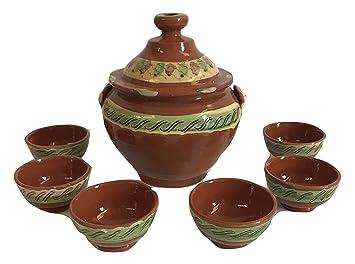 Suppe 5 Tassen Keramik Terracotta Marokkanische Suppenschale