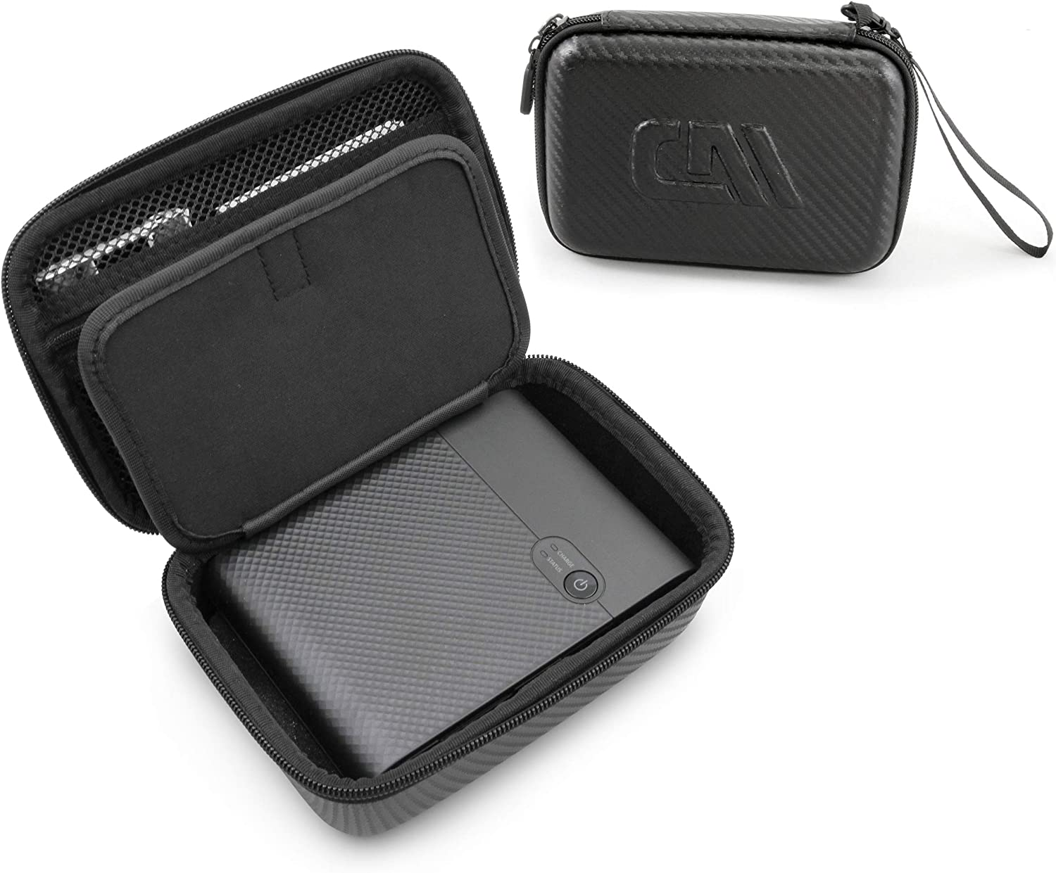 Casematix Carry Case Compatible with Canon Selphy Square QX10 Compact Photo Printer, Cables and Printing Paper, Includes Case Only