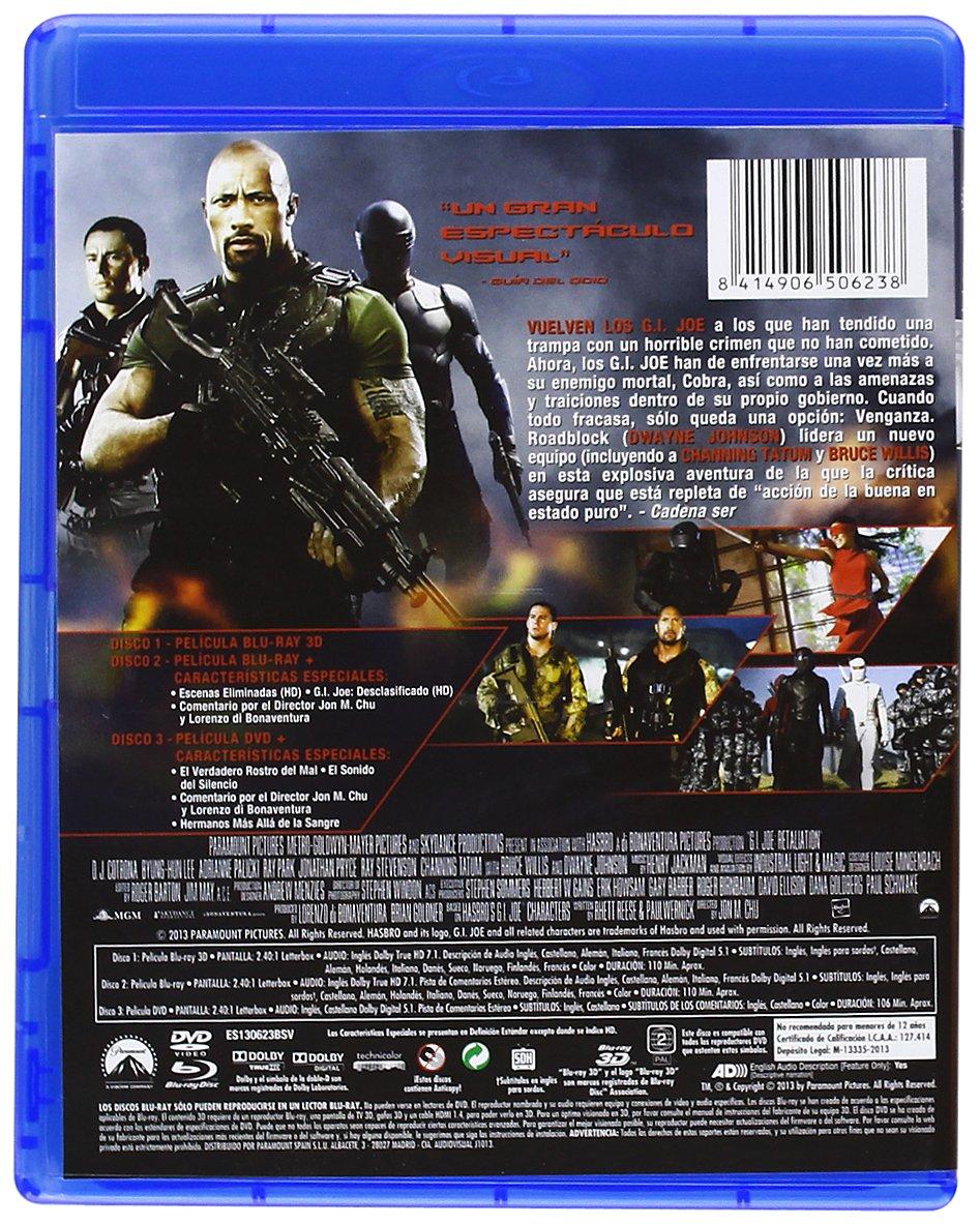 GI Joe: La Venganza (Dvd + Bd + Bd 3d) (Blu-Ray) (Import Movie) (European Format - Zone B2) (2013) Channing