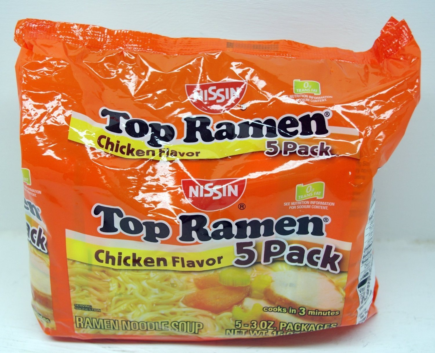 Nissin Top Ramen Noodle Soup Chicken Flavor 3 Ounce Packages - 15 Packs by Nissin Top Ramen
