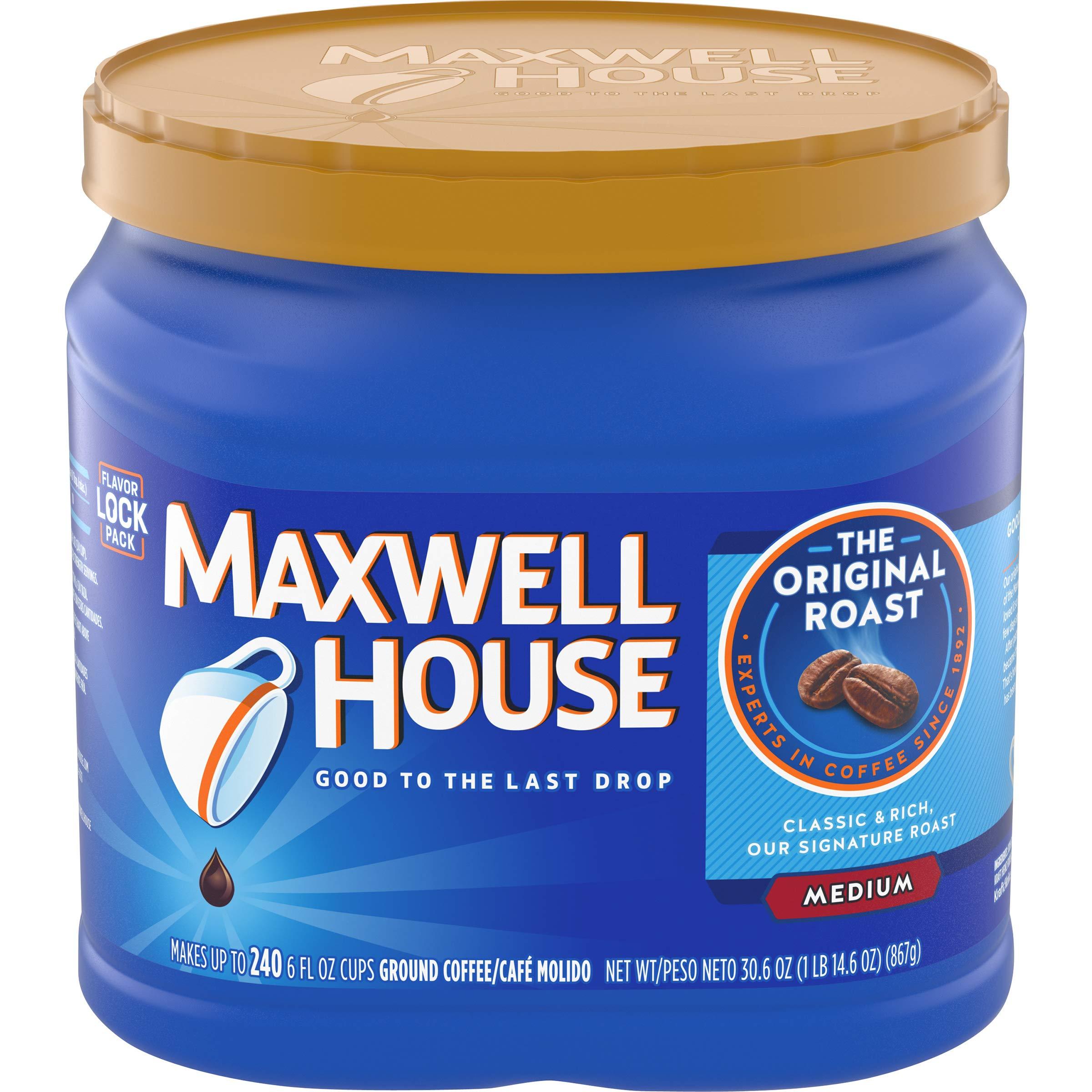 Maxwell House Original Medium Roast Ground Coffee (30.6 oz Canister)