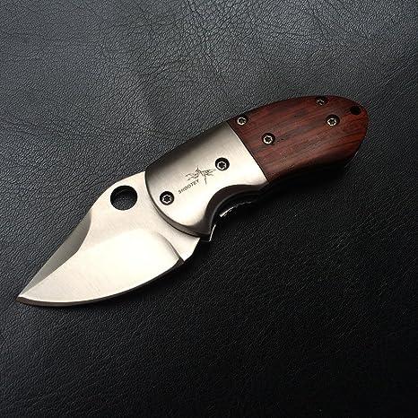 shootey pequeño mini madera navaja - hoja 5 cm