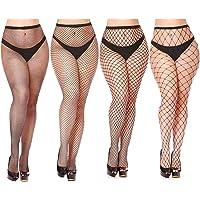 ba7bb71a87e43 Womem's Sexy Black Fishnet Tights Plus Size Net Pantyhose Stockings