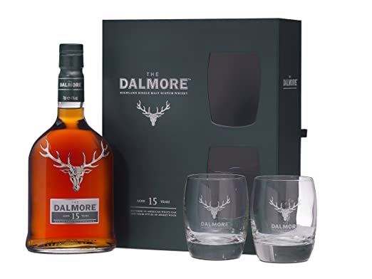 Dalmore Malt Scotch Whisky 15 Year Old Glass Gift Pack, 70 cl ...