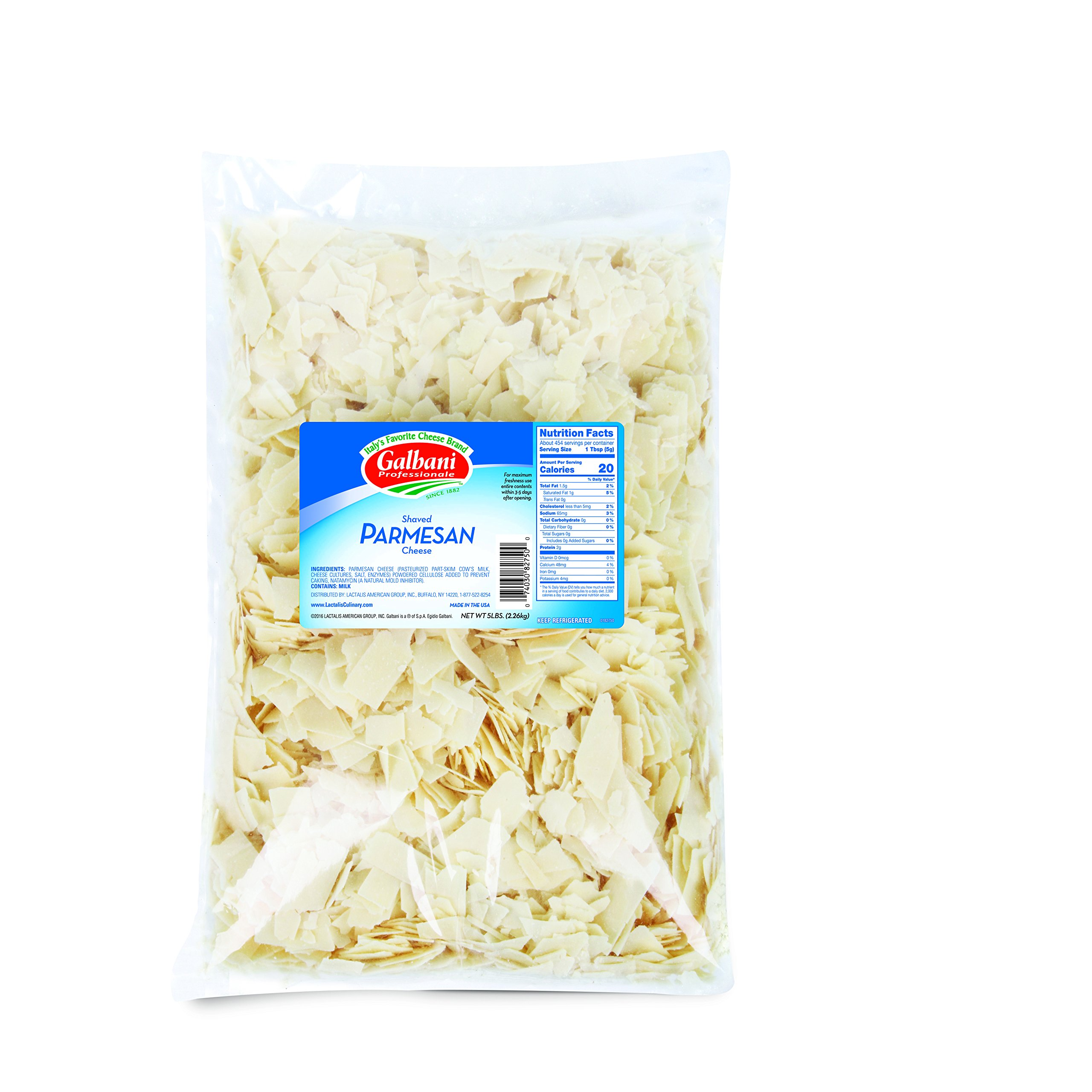 Galbani Professional Shaved Parmesan Cheese 5 lb, Pack of 4 by Galbani (Image #1)