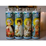 My Pen15 Club Set of 4 Golden Girls Celebrity Prayer Candles - Blanche Rose Dorothy and Sophia